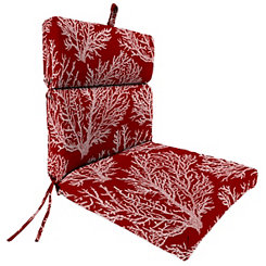 Sea Coral Red Outdoor Chaise Lounge Cushion