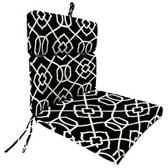 Kirkland Black Outdoor Chaise Lounge Cushion