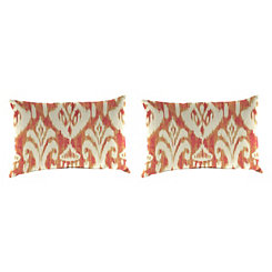 Rivoli Coral Outdoor Accent Pillows, Set of 2