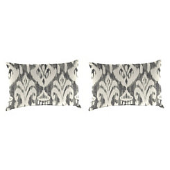 Rivoli Graphite Outdoor Accent Pillows, Set of 2