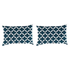 Fulton Oxford Outdoor Accent Pillows, Set of 2