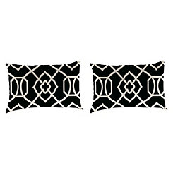 Kirkland Black Outdoor Accent Pillows, Set of 2