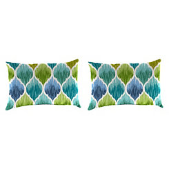Denali Caribbean Outdoor Accent Pillows, Set of 2