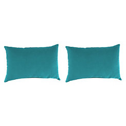 Davinci Lagoon Outdoor Accent Pillows, Set of 2