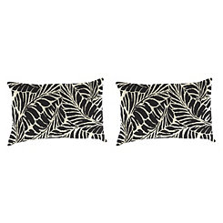 Malkus Ebony Outdoor Accent Pillows, Set of 2