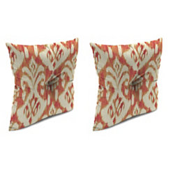 Rivoli Coral 16 in. Outdoor Pillows, Set of 2