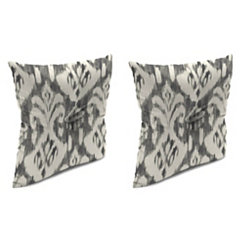 Rivoli Graphite 16 in. Outdoor Pillows, Set of 2