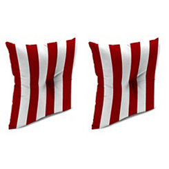 Red Stripe 16 in. Outdoor Pillows, Set of 2