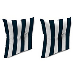Navy Stripe 16 in. Outdoor Pillows, Set of 2