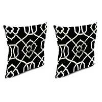 Kirkland Black 16 in. Outdoor Pillows, Set of 2