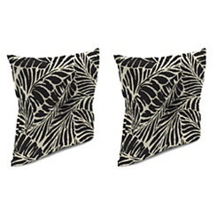 Malkus Ebony 16 in. Outdoor Pillows, Set of 2