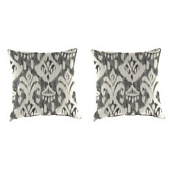 Rivoli Graphite 18 in. Outdoor Pillows, Set of 2