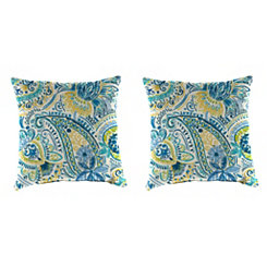 Gilford Baltic 18 in. Outdoor Pillows, Set of 2