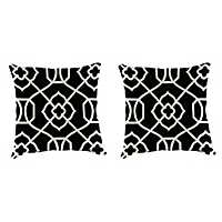 Kirkland Black 18 in. Outdoor Pillows, Set of 2