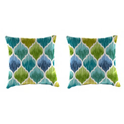 Denali Caribbean 18 in. Outdoor Pillows, Set of 2