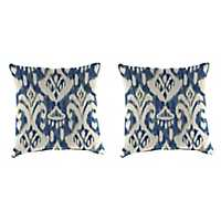 Rivoli Indigo 18 in. Outdoor Pillows, Set of 2