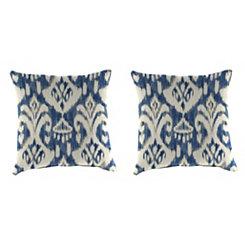 Rivoli Indigo 18 in. Outdoor Pillows, Set of 2