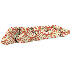 Rivoli Coral Outdoor Settee Cushion, 46 in.