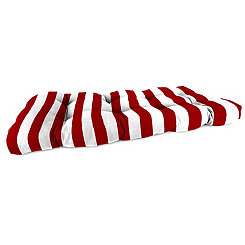 Classic Stripe Red Outdoor Settee Cushion, 46 in.