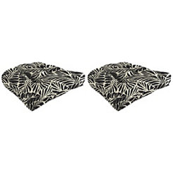 Malkus Ebony 19 in. Outdoor Cushions, Set of 2