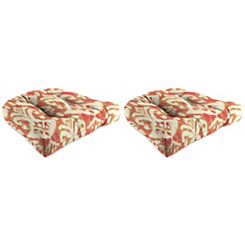 Rivoli Coral 18 in. Outdoor Cushions, Set of 2