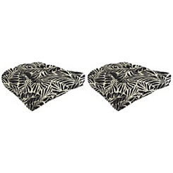 Malkus Ebony 18 in. Outdoor Cushions, Set of 2