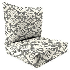 Rivoli Graphite 2-pc. Outdoor Chair Cushion Set