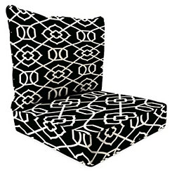 Kirkland Black 2-pc. Outdoor Chair Cushion Set