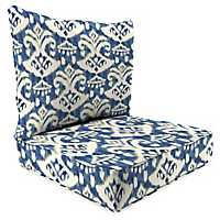 Rivoli Indigo 2-pc. Outdoor Chair Cushion Set