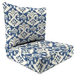 Rivoli Indigo 2-pc. Outdoor Chair Cushion Set