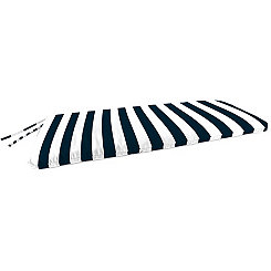 Classic Stripe Navy Outdoor Settee Cushion