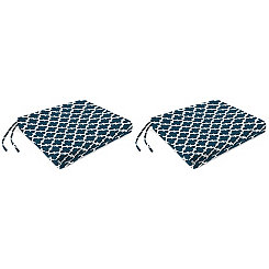 Fulton Oxford Outdoor Chair Pads, Set of 2