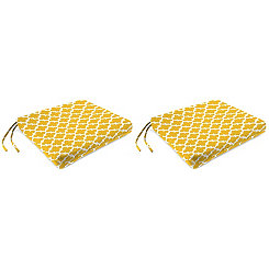 Fulton Citrus Outdoor Chair Pads, Set of 2