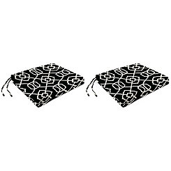 Kirkland Black Outdoor Chair Pads, Set of 2