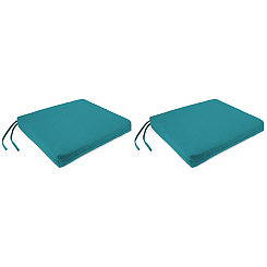 Davinci Lagoon Outdoor Chair Pads, Set of 2