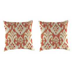 Rivoli Coral Outdoor Pillows, Set of 2