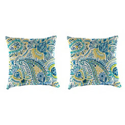 Gilford Baltic Outdoor Pillows, Set of 2
