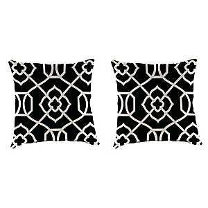 Kirkland Black Outdoor Pillows, Set of 2