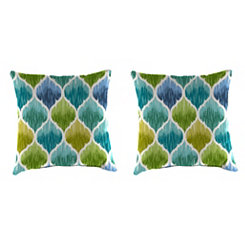 Denali Caribbean Outdoor Pillows, Set of 2