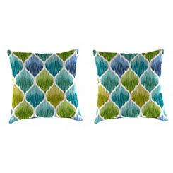 Denali Caribbean Outdoor Pillows, Set of 2