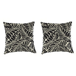 Malkus Ebony Outdoor Pillows, Set of 2