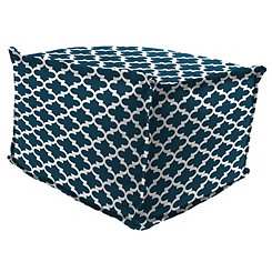 Fulton Oxford Fringe Square Outdoor Pouf