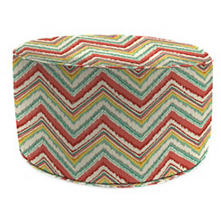 Chara Watermelon Round Outdoor Pouf