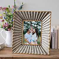 Natural Charm Galvanized Metal Picture Frame, 8x10