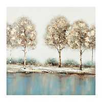 Golden Touch Trees Canvas Art Print