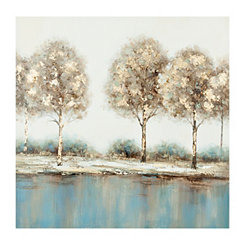 Golden Touch Trees Canvas Art Print