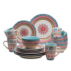 Merille Floral Medallion 16-pc. Dinnerware Set