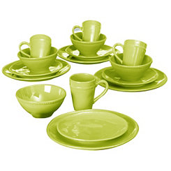 Algarve Green Dot 16-pc. Dinnerware Set