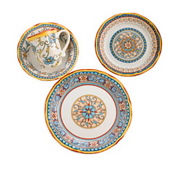 Duomo Blue Medallion 16-pc. Dinnerware Set
