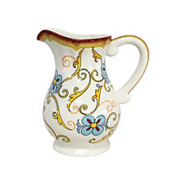 Duomo Blue Scroll Pitcher